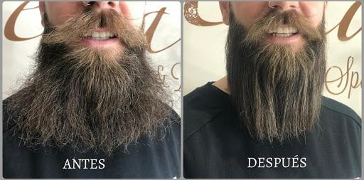 cepillo alisador de barba