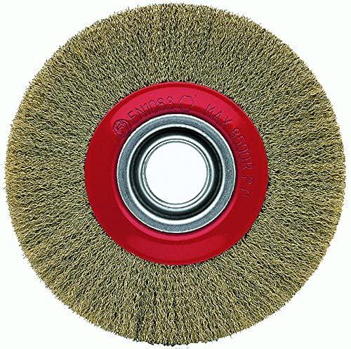 cepillo metalico de acero latonado