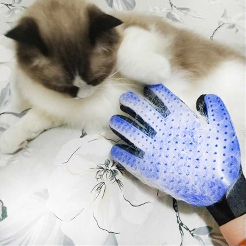 cepillo tipo manopla para gato